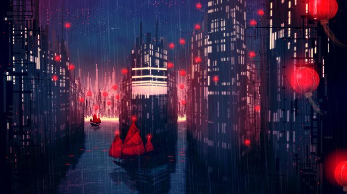 Rain City Wallpaper rain, city, anime, night - wallpaper #65507 (2500x1500px) on