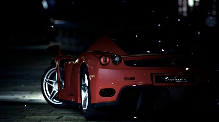 car, Enzo Ferrari, Ferrari, red cars