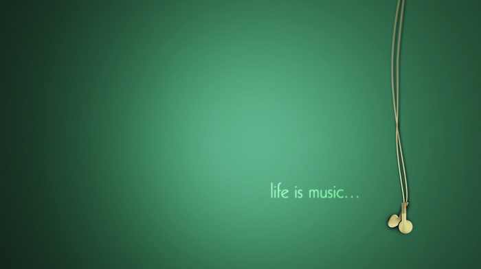 minimalism, headphones, music