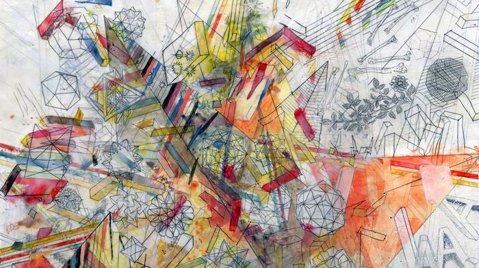 paints, 3D, lines