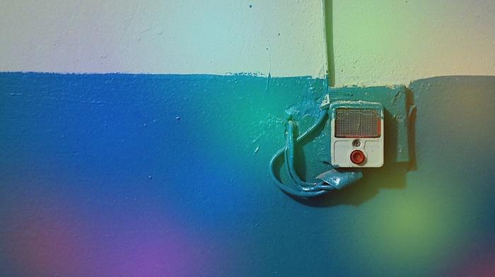 wall, rainbow, colors