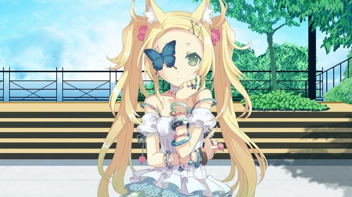 animal ears, blonde, original characters, nekomimi, anime girls, anime