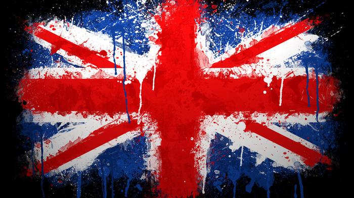 текстуры, краска, Великобритания, флаг, union jack