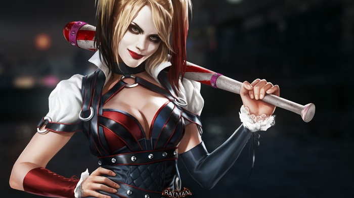 Batman, digital art, DC Comics, Batman Arkham Knight, Joker, video games, Harley Quinn, Rocksteady Studios