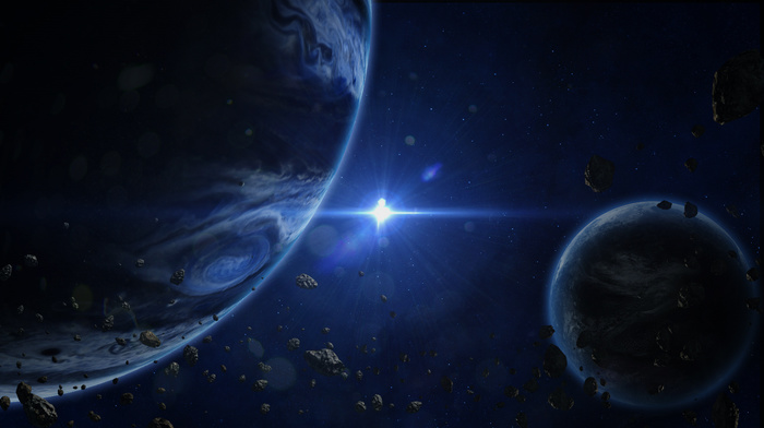 star, space, planets
