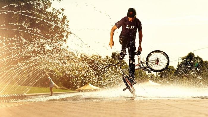 water, Sun, background, sports, splash, summer