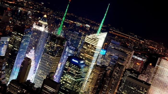 night, USA, cities, city, light, skyscrapers