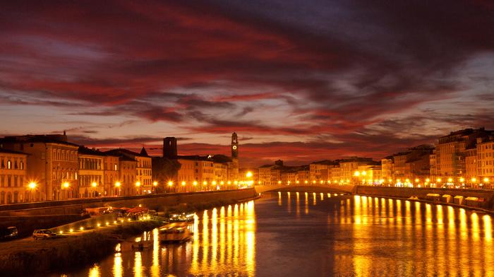 night, city, lights, cities