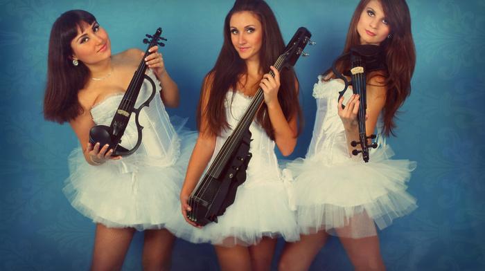 violin, girls, music, holiday, white, musicians