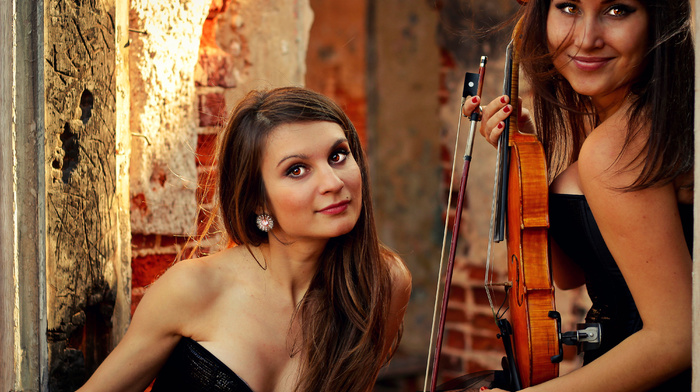 musicians, yellow, music, brown, autumn, violin