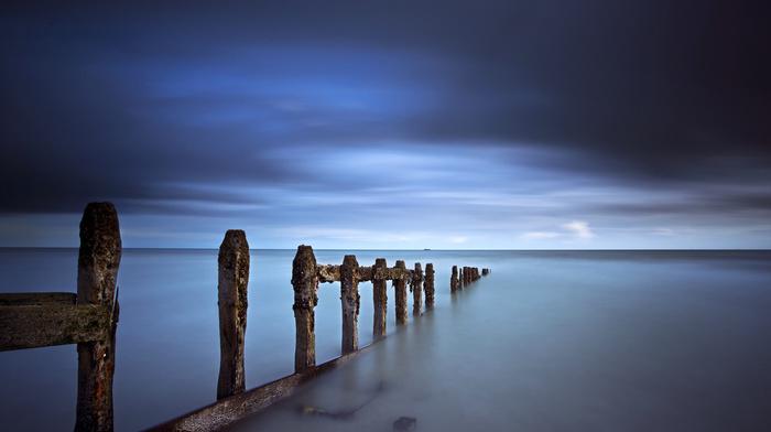 sea, nature, azure, coast, sky
