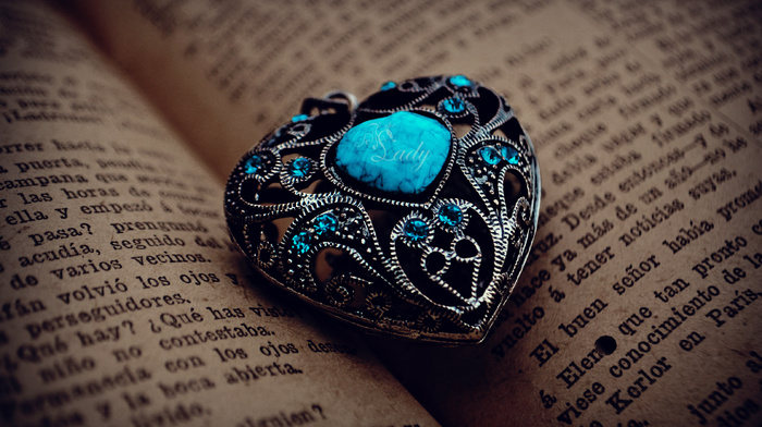 stone, book, macro, heart