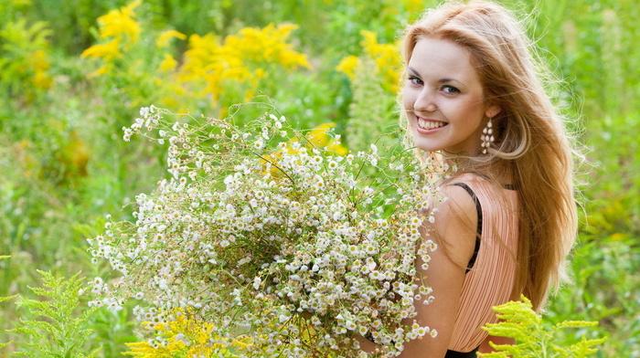 mood, flowers, girls, summer, girl