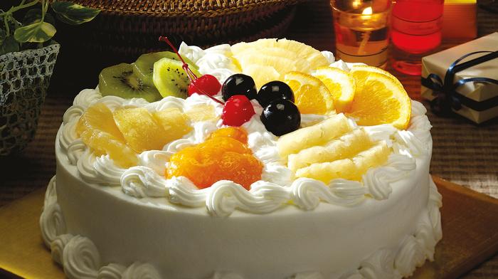 delicious, basket, cherry, table, dessert, fruits