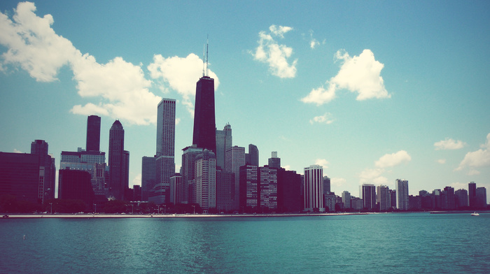 cities, skyscrapers, high-rise buildings, Chicago, America