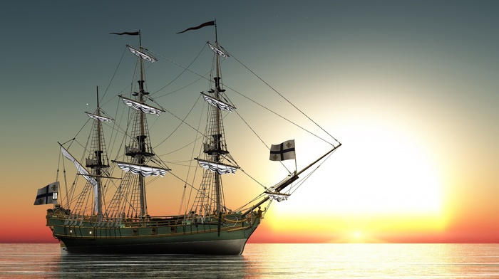 sea, ship, stunner, sailfish