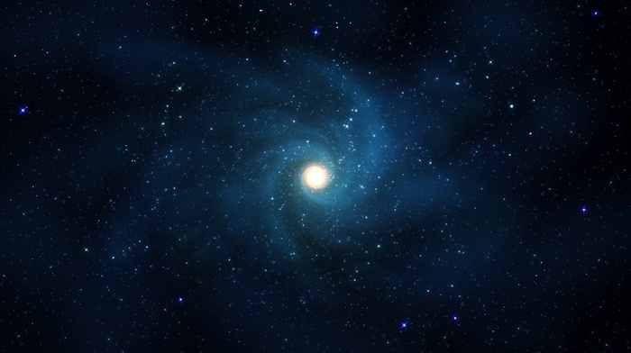 space, light, azure, galaxy, stars