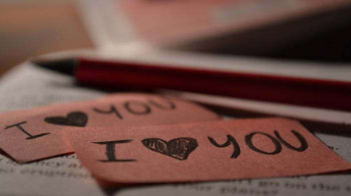 pink, macro, heart, book, love
