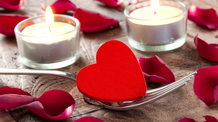 heart, candles
