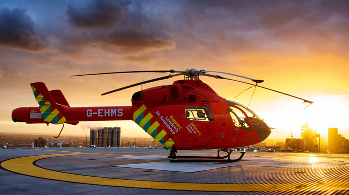 height, helicopter, sunset, aircraft