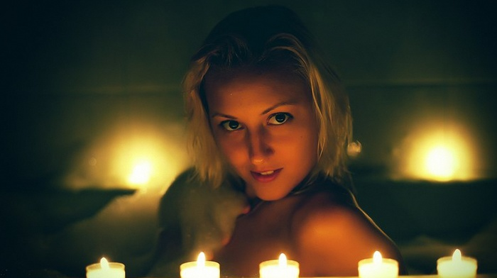 girls, candles, beauty