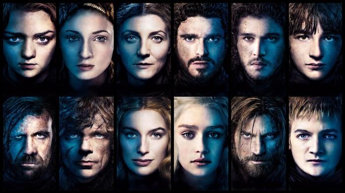Sansa Stark, Game of Thrones, The Hound, Tyrion Lannister, Joffrey Baratheon, Robb Stark, Daenerys Targaryen, Brandon Stark, anime, Jaime Lannister, Arya Stark, Cersei Lannister, Jon Snow, Catelyn Stark
