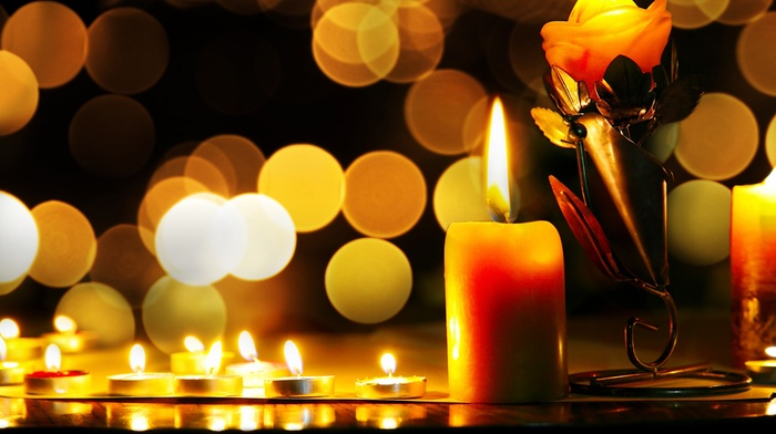 bokeh, candles, macro