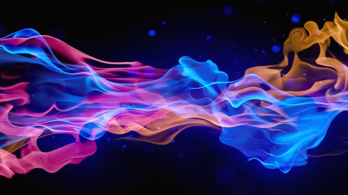 3D, smoke, colors