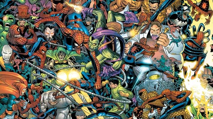 Dr. Octopus, Green Goblin, Shocker, spider, man, Rhino character, comics, Kingpin