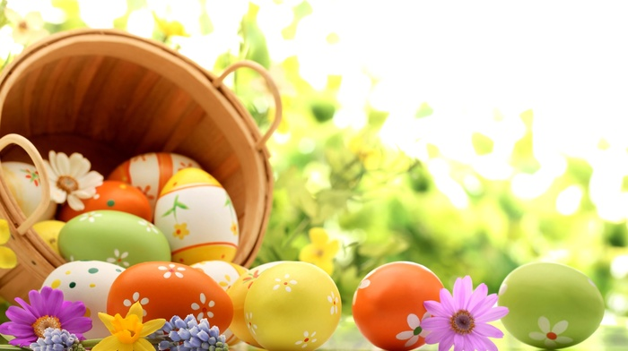 basket, holiday, spring