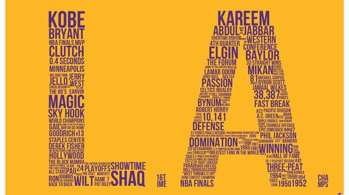 sports, basketball, Los Angeles Lakers, Kobe Bryant, Los Angeles Dodgers, los angeles, typography, NBA