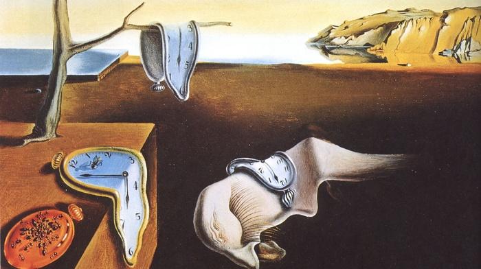 artwork, clocks, classic art, Salvador Dal