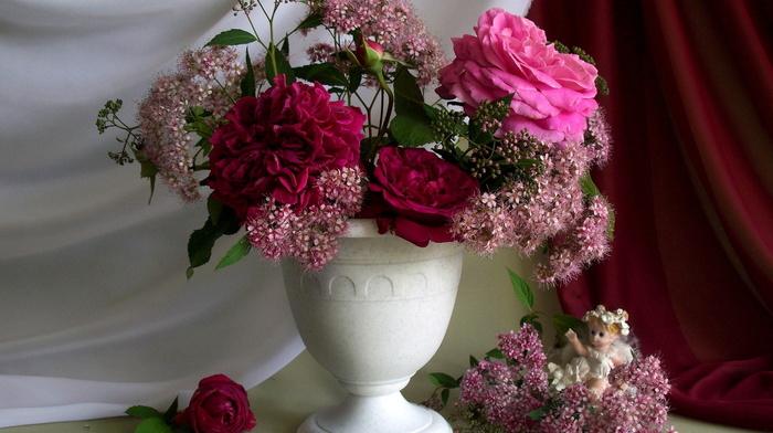 flowers, angel, flower, bouquet, nature