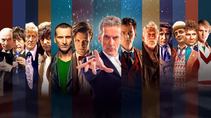 Christopher Eccleston, Tom Baker, Peter Capaldi, Doctor Who, The Doctor, David Tennant, John Hurt, panels, Matt Smith