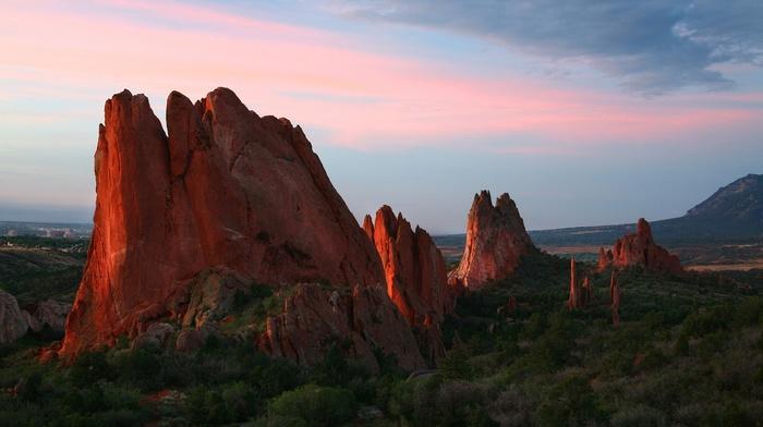 nature, sunset, sunlight, mountain, landscape