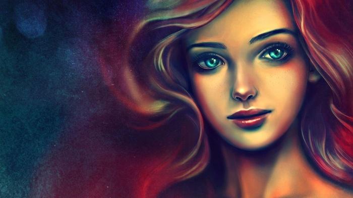 anime, The Little Mermaid, colorful, girl, alicexz, blue eyes, mermaids, redhead, concept art, drawing, Disney, artwork