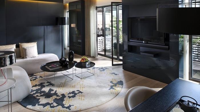 interior, design, style, black, room