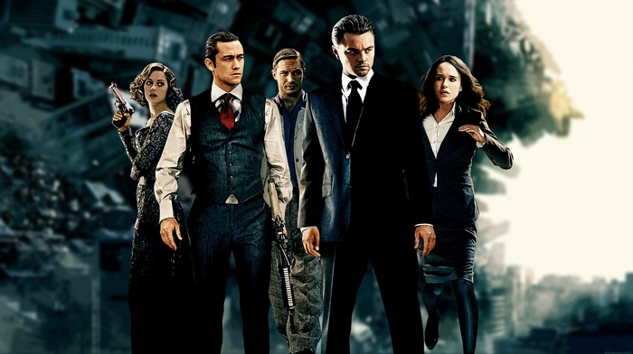 Leonardo DiCaprio, Joseph Gordon, Levitt, Tom Hardy, inception, Ellen Page, MessenjahMatt, movies, Marion Cotillard