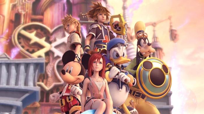 keys, Donald, Mickey Mouse, Goofy, Sora Kingdom Hearts, video games