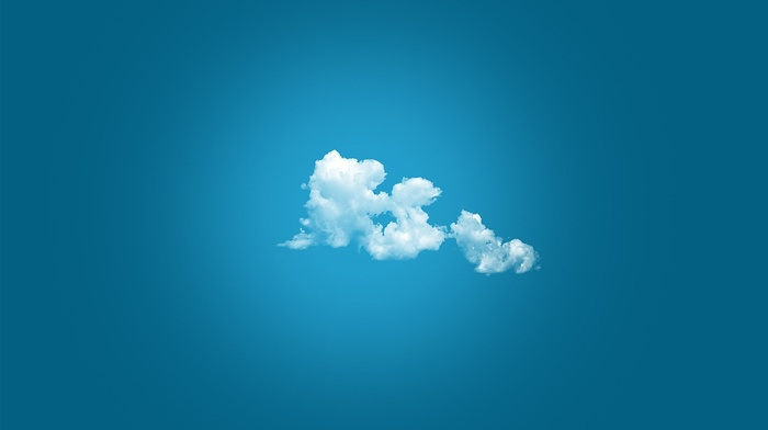 simple background, nature, abstract, peace, blue background, minimalism, blue, anime, clouds