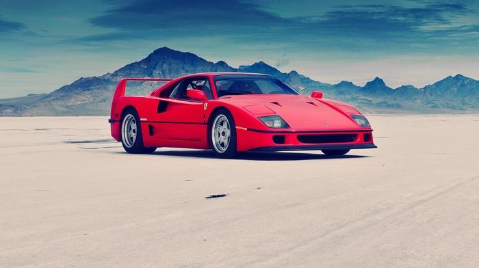 Ferrari, Ferrari F40, red cars