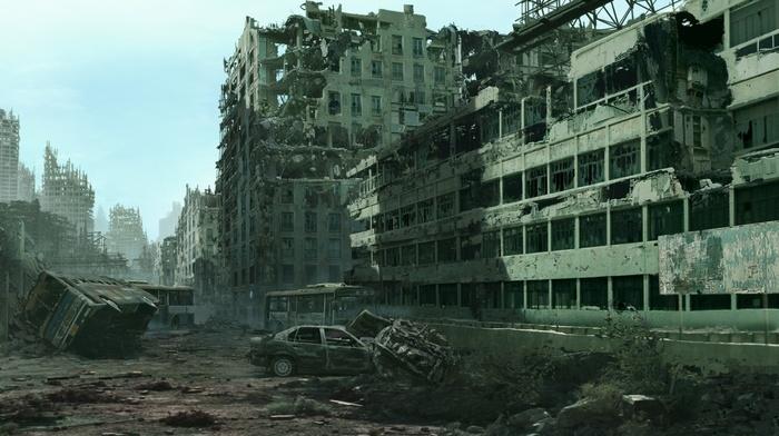 apocalyptic, cityscape, ruin, urban