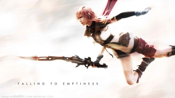 Final Fantasy, sword, Claire Farron, video games, Final Fantasy XIII