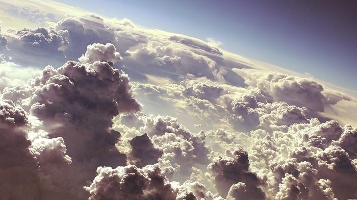 height, clouds, nature, sky