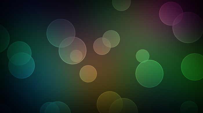 bubbles, 3D, balloon, colors, gradient