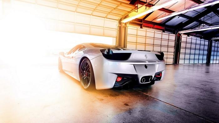 Ferrari, auto, garage, cars