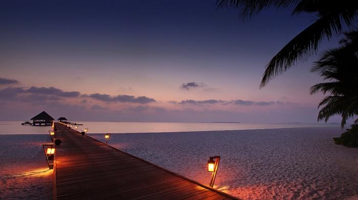 sunset, beach, stunner, sea, berth