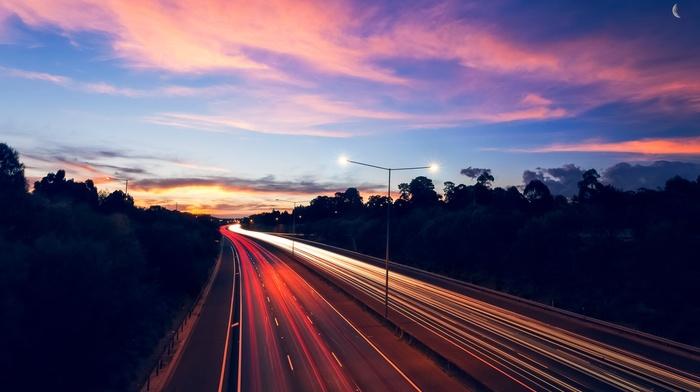 highway, long exposure