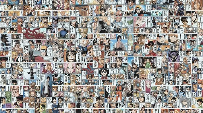Shaman King, The Prince Of Tennis, Death Note, Hunter x Hunter, One Piece, Bleach, Naruto Shippuuden, manga, Dragon Ball Z, Gintama