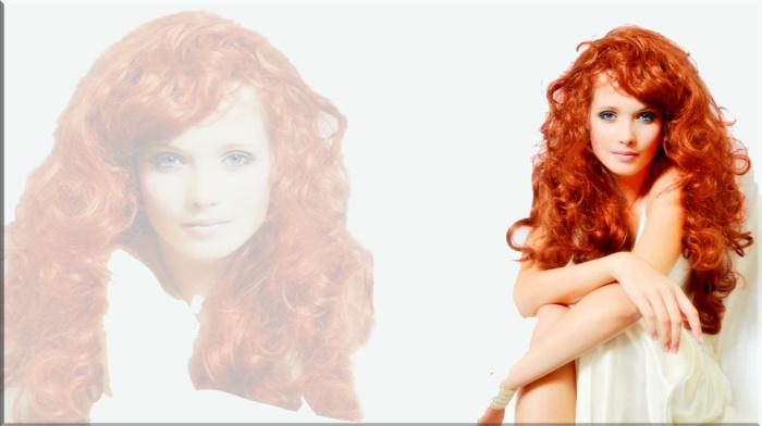 redhead, girl, blue eyes